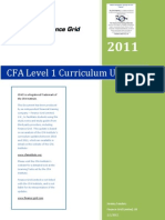 CFA Level 1 LOS Changes Between 2011 and 2010