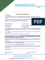 Channel Partner Acknowledgement Letter  Letter Of Intent Partnership