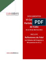 Documentos del VI Congreso Partido Comunista de Cuba
