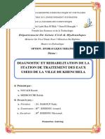 -Diagnostic Et Réhabilitation de La Station de Traitement Des Eaux Usées de La Ville de Khenchela
