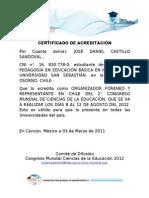 CERTIFICADO DE ACREDITACIÓN congreso