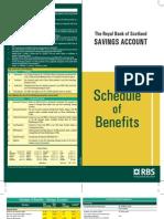 RBS Savings Account detail