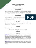 ACUERDO GUBERNATIVO 30-71 Reglamento del Registro Mercantil Central