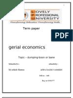 Dumping Eco Term Paper Tm