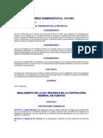 ACUERDO GUBERNATIVO 318-2003 REGLAMENTO DE LA LEY ORGÁNICA DE LA CONTRALORÍA GENERAL DE CUENTAS
