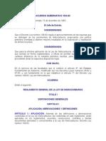 ACUERDO GUBERNATIVO 1034-83 REGLAMENTO GENERAL DE LA LEY DE HIDROCARBUROS