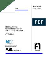 1756-2001a Edificaciones Sismoresistentes Parte 1, Articulado