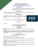 DECRETO LEY 206 LEY DE TRIBUNALES DE FAMILIA