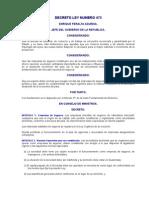 DECRETO LEY NUMERO 473 Ley de Empresas de Seguros