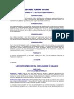 DECRETO NUMERO 006-2003 LEY DE PROTECCION AL CONSUMIDOR Y USUARIO