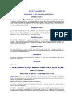 DECRETO NUMERO 7-99 LEY DE DIGNIFICACION Y PROMOCION INTEGRAL DE LA MUJER