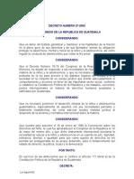 DECRETO NUMERO 27-2003 LEY DE PROTECCION INTEGRAL DE LA NIÑEZ Y ADOLESCENCIA