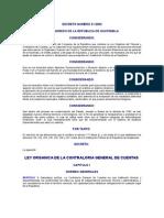 DECRETO NUMERO 31-2002 LEY ORGANICA DE LA CONTRALORIA GENERAL DE CUENTAS