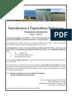 Agriculture Biologique - Introduction a L'Agriculture Biologique