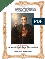 23 de Octubre. San Antonio María Claret. Guía de los fieles para la santa misa cantada.  Kyrial Angelis
