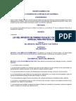 DECRETO NUMERO 37-92 LEY DEL IMPUESTO DE TIMBRES FISCALES Y DE PAPEL SELLADO ESPECIAL PARA PROTOCOLOS y sus Reformas