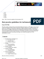 Best Practice Guidelines for Turbo Machinery
