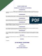 DECRETO NÚMERO 39-89 LEY DE ARMAS Y MUNICIONES
