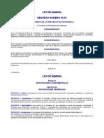 DECRETO NÚMERO 48-97 Ley de Minería