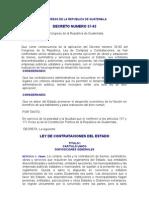 DECRETO NÚMERO 57-92 Ley de Contrataciones del Estado