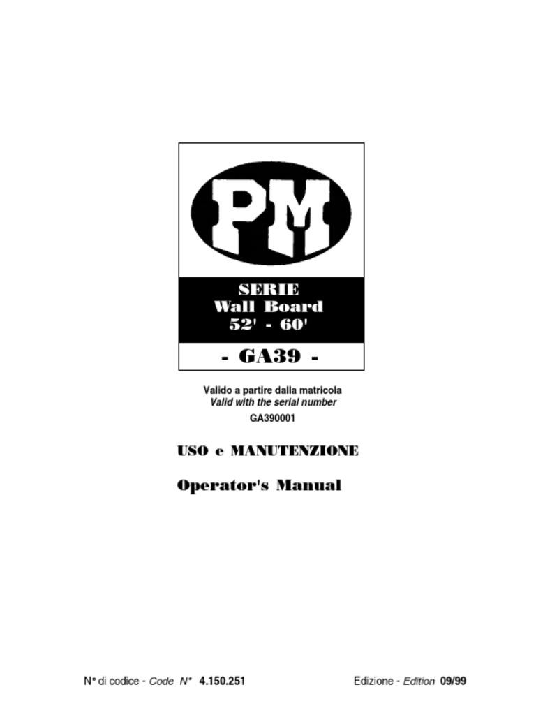 Pm Crane Owners Manual