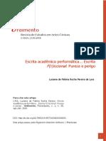 Luciana Lyra - Escrita F(r)iccional - Pureza e Perigo