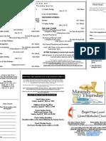 Maundy Thursday Service Web Bulletin
