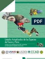 LISTADOS CITES ACTUALIZADOS DE LAS ESPECIES DE FAUNA Y FLORA Centroamerica y R. Dominicana