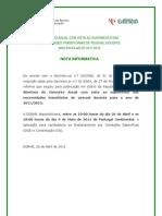 Nota Informativa Concursos 2011; 2011.Abr.20