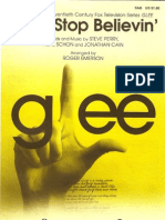 Glee Cast - Don t Stop Believin SAB SHEET MUSIC