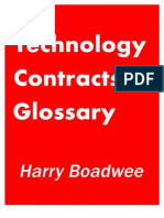 Technology Contracts Glossary