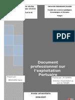 Rapport Sur l'Exploitation Portauire