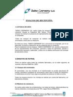 ENSAYOS DE RECEPCION