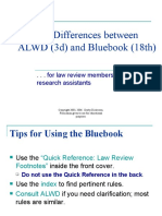 Notable ALWD-Bluebook Differences Third Ed