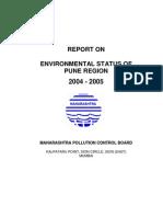 Environmental Status Pune Region Mpcb 2004 05