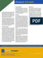CPM Case Studies - Radiculopathy