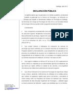 Declaracion Colegio de Psicólogos ante formación en Psicoterapia impartida por el Instituto de Psicología de Santiago