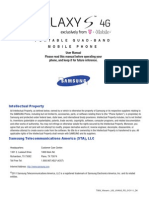 Galaxy s 4g Support