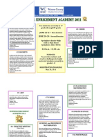 Summer Enrichment 2011 Flyer