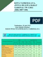 Inflasi Kt Tsk & 6 Kt Di Jabar TW I - 2011