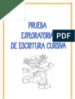 Prueba Exploratoria Escritura Cursiva
