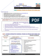 Csat All India General Studies Pre Test Series 2011 25 Mock Tests Current Affairs Notes