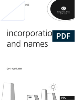 Guide to Incorporating a Company in the UK and Naming it - Companies House