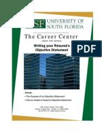 Resume Objective Redo