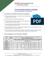Pyramidal Microwave Abserober FU-SE