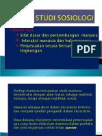 d.obyek Studi Sosiologi
