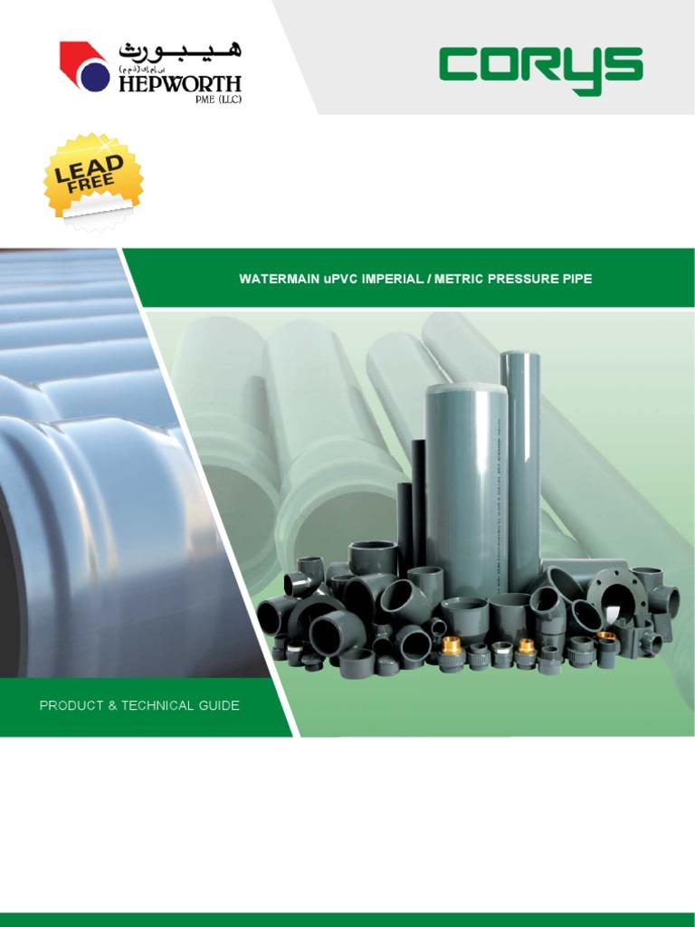 Hepworth UPVC | Polyvinyl Chloride | Pipe (Fluid Conveyance)