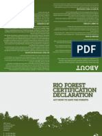 Rio Forest Certification Declaration