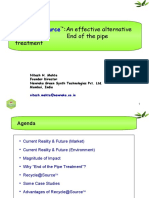 Recycle@Source - An Effective Alternative to End of the Pipe Treatment (Chemspec'2011)