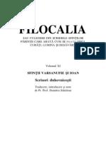 Filocalia 11 Varsanufie Si Ioan Scrisori Duhovnicesti